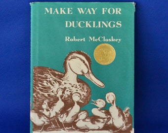 Make Way for Ducklings by Robert McCloskey - Vintage Children's Book c. 1969 - Caldecott Medal Winner - Published by Viking Penguin Inc.