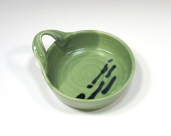 Brie Baker - Ceramic Cheese Baker - Green Brie Baker - Pottery Brie Baker - dip dish - cheese plate - appetizer dish - baking dish