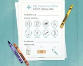 Doctor Forms Printable - Kids Pretend Play Doctor - Dramatic Play - Homeschool - Classroom