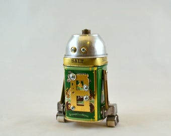 STEAMSHIP DROID BOT, Assemblage Art Recycled Robot