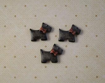 Small Scottie Dog Button set of 3