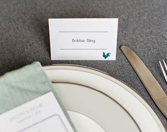 Modern Purple Wedding Place Cards | Simple Reception Escort Cards with a Modern Design | Jaclyn & Richie