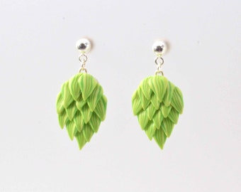 Fuggle Hops Earrings - Beer Diva Beer Jewelry - Hop Jewelry -Beer Gear - Beer Geek Gift