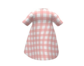 Baby Dress -  Gingham Picnic Pink