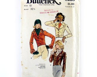 Misses Cropped Jacket / Semi-fitted Jacket with Princess Seams / Bomber Jacket Pattern / Butterick 3223 / Uncut FF / Size 10