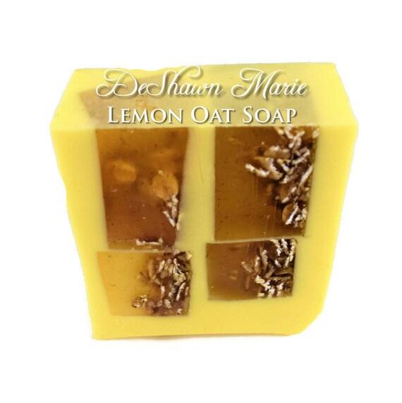 SALE SOAP  - Lemon Soap - Lemon Oat Scrub Soap - Oatmeal Soap - Vegan Soap - Handmade Soap- Soap Gift - Favors