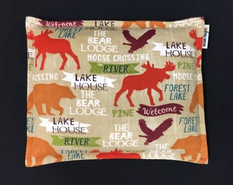 Flannel Corn Heating Pad, Corn Bag, Microwavable Heat Pack, Cabin Decor, Relaxation Gift, Heated Bags, Cabin, Lodge, Lake House