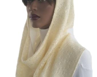 Koul SHôl™ Head Hoodie Vanilla Sweater Knit Cowl Hoodie Fully Lined Hoodie Hijab Hoodie Handmade