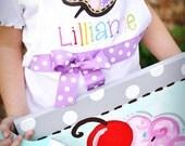 paint party apron, child's art apron, girl's art apron with purple bow, art party, paint party, paint palette apron, painting birthday party