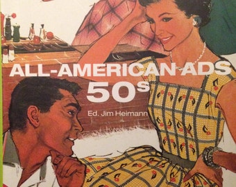 All-American Ads 50s, ICONS by Heimann, Tashen book, 1950s ads, Mid-Century Modern Advertising Book, Art Book, Fashion Book, Graphic Arts