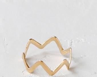 On Sale Cruz Ring, stacking ring, geometric ring, minimalist jewelry, statement ring