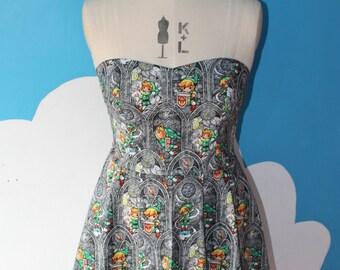 Legend of zelda - swords -  sweet heart dress - all size
