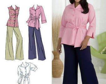 PLUS SIZE Sewing Pattern ~ Khaliah Ali Collection Pants Skirt Shirt 4 Sizes