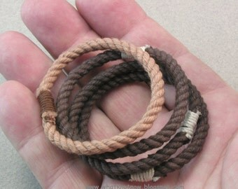 four small string bracelets rope jewelry soft bangles nothing bracelets matched set of four 3659