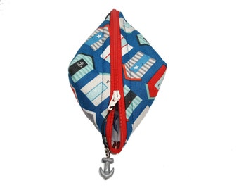 Nautical Sweetpea Pouch with Anchor Pull Charm