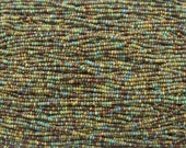 10/0 Mediterranean Picasso Mix Czech Glass Seed Beads 3 Strand Hank (AW308)