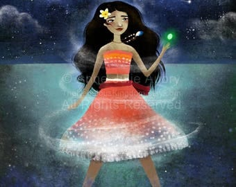 Moana - Disney Princess  - Deluxe Edition Print - Whimsical Art