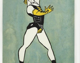 Francois Berthoud Fashion Illustration Print, Vintage Fashion Book Page Wall Art, Gay Interest, Ready to Frame