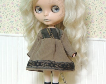 Brown and Plaid  Dress for Blythe