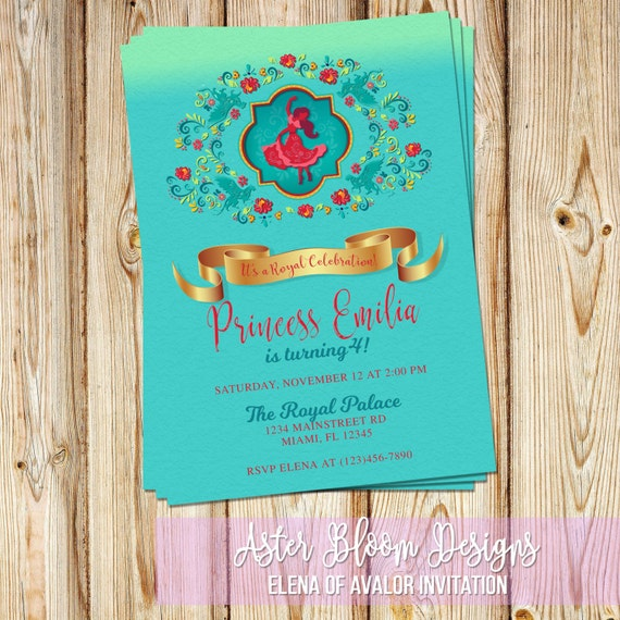 Princess Elena of Avalor Birthday Invitation DIY Printable