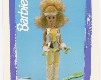 """Barbie Collectible Trading Card - """"Workout Teen Skipper"""" 1988 - Card No. 158 for Barbie collectors, dioramas, Skipper Collectible"""