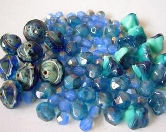 Assorted Beads, Czech Glass Beads, Saturn Beads, Flower Beads+ (#3MC)