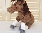 Crochet Horse Stuffed Animal / Brown Horses/ Crochet Doll / Amigurumi Toy/ Handmade Toys/ Gift For Kids