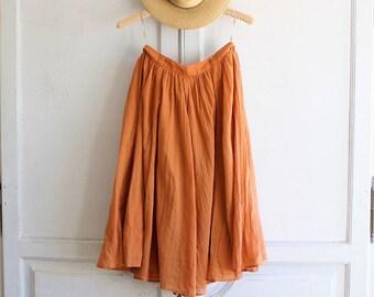 90s vintage cotton gauze midi skirt small