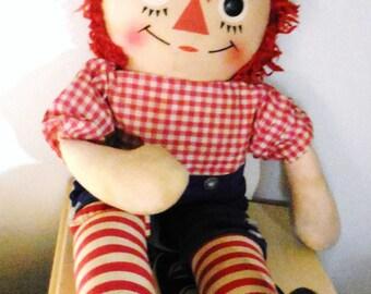 Knickerbocker Raggedy Andy Red Yarn Hair Rag Doll Knickerbocker So Cute