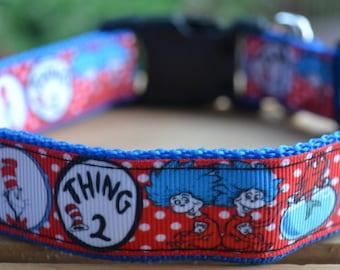 Dr Seuss dog collar & leash