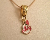 Repurposed Cleveland Indians 1999 charm with Nice Repurposed Gold plated 20 inch Chain