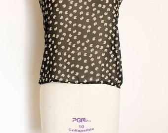 50% OFF Chiffon Blouse Bow Neckline Cat Print Pussy Bow Blouse Women's Shirt Black Chiffon Top Summer Wear