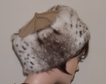 Snow Lynx Faux Fur Hat, Winter Hat