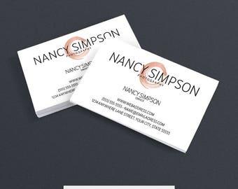 Business Cards - Jewelry Business Card Design - Business Cards For Etsy Shop - Printable Business Card Design - Logo 5-17