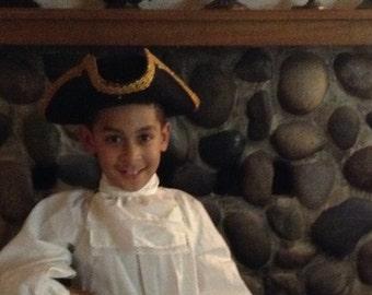 Colonial Revolutionary War Ruffled Jabot Costume Accessory