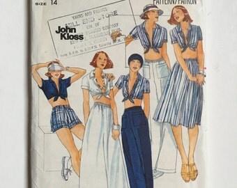 Vintage Sewing Pattern Women's 70's Uncut Butterick 4811, Tops, Skirt, Pants, Shorts (M)