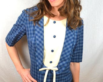 CUTE Vintage 1960s 60s Union Made Stacy Ames Top