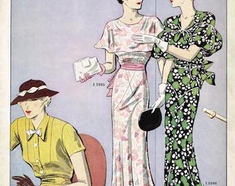 Digital Download 1930s Excella Summer 1933 Quarterly Pattern Catalog 34 pg Ebook