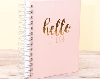 Baby Journal/ Foil /Pregnancy Journal/ Baby Shower Gift/ Guest Book/ Personalized/ Custom