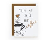 Cup of Coffee - letterpress card
