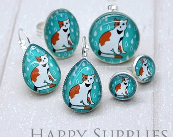 GCS018 - Handmade Photo Glass Cabochon / Resin Charm - 12mm Round / 25mm Round / 18x25mm Oval / Teardrop