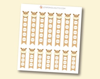 Pokemon Eevee Checklists - Kawaii Chibi Pokemon planner stickers, EC stickers, Personal Planners