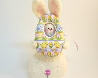 Plush Easter bunny decor | Bunny decoration | Easter decoration | Easter home decor | Easter basket filler | Farmhouse Spring bunny