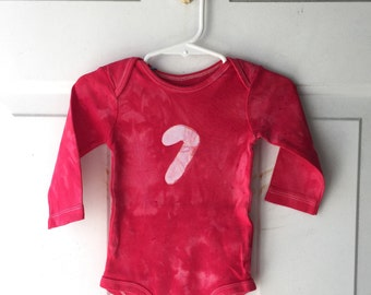 Christmas Baby Bodysuit (12 months), Candy Cane Bodysuit, Baby Christmas Shirt, Baby Boy Christmas, Baby Girl Christmas SALE