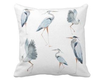Pillow Cover Beach Decor Blue Egret