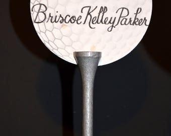 Golf tee Escort Card and Holder #4 /Place Card Holder - Favor