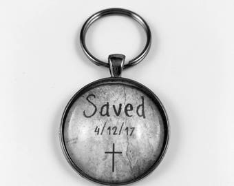 Salvation Date - Custom Key Chain - Masculine - Available in 4 Finishes
