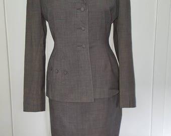 Vintage Gray Skirt Suit