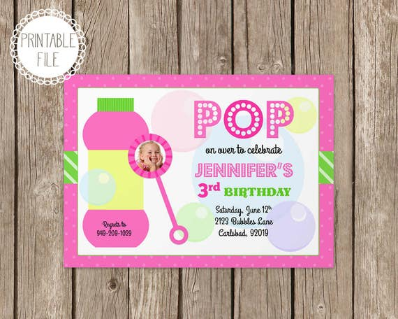 Bubbles birthday party invitation personalized by eventfulcards il570xn filmwisefo