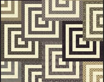 Mesmerize Quilt Pattern - BasicGrey - Modern Quilt Pattern - PAT8115